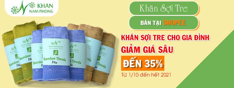 Khan Nam Phong mở bán khăn sợi tre trên sàn thương mại điện tử