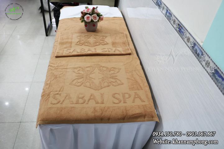 Mẫu khăn body Sabai Spa (Nâu Nhạt - Cotton)