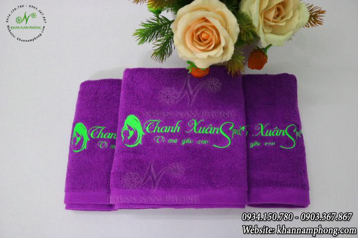 Mẫu khăn body Thanh Xuân Spa (Tím Cotton)
