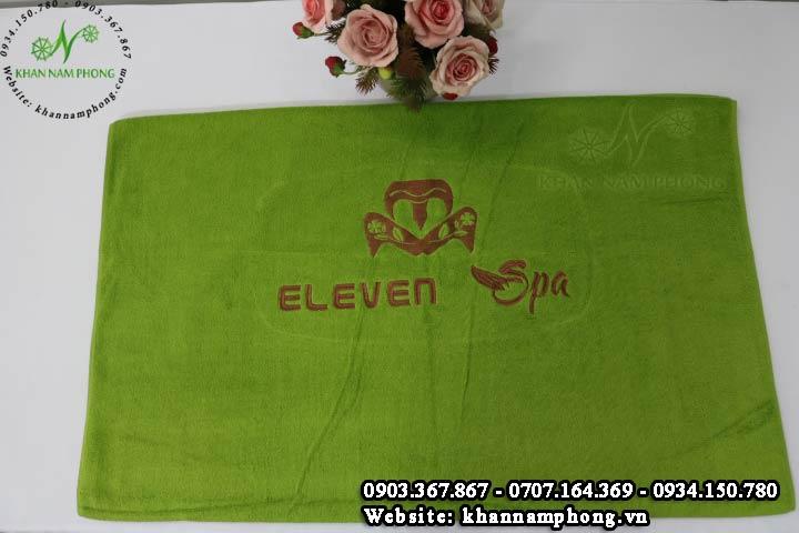 Mẫu khăn trải giường Eleven Spa - Cốm (Cotton)