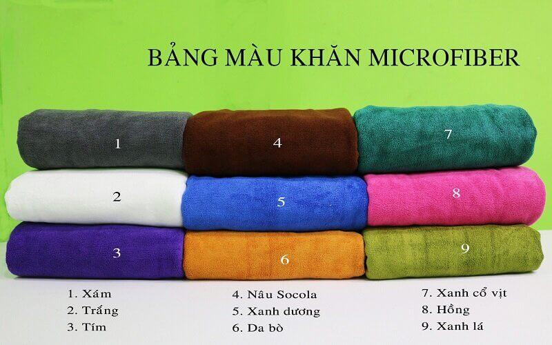 Bảng màu khăn trải giường spa Microfiber