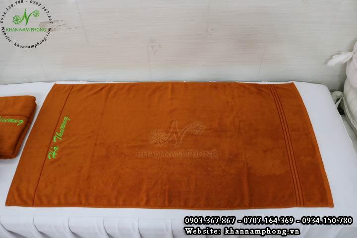 Mẫu khăn body Hà Thương (Cotton Da Bò)