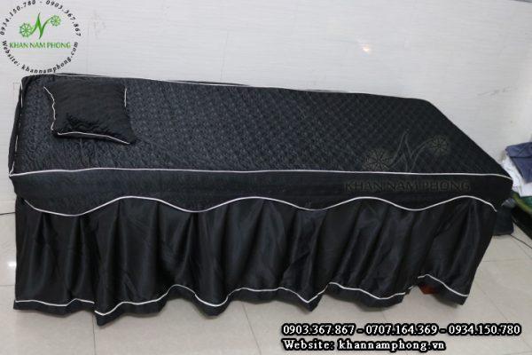 Ga trải giường spa màu xám đen