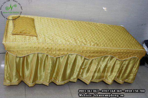 Ga trải giường spa màu vàng đồng