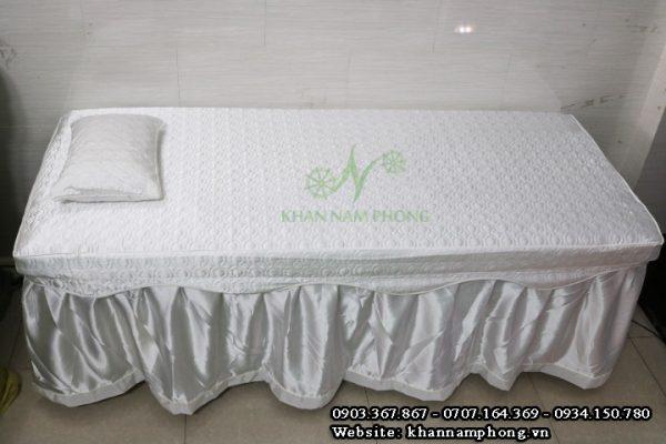 Ga trải giường spa màu trắng