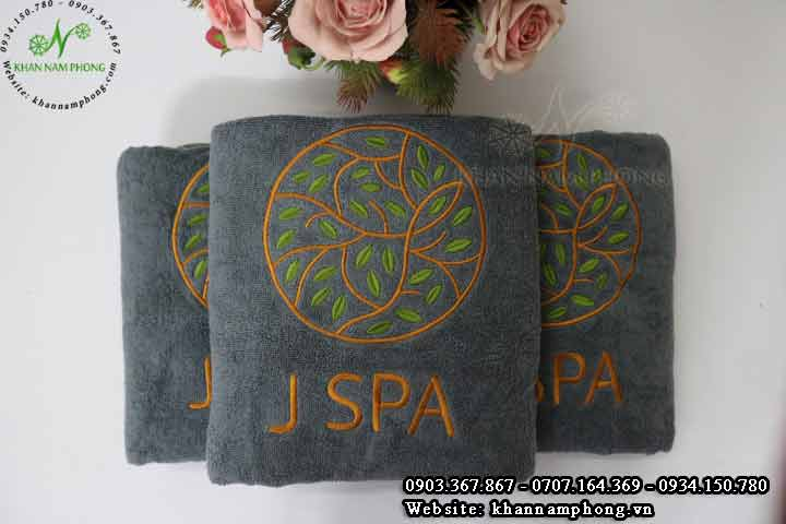 Mẫu khăn body J Spa (Cotton Xám)
