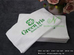 Khăn lót gối Cotton Green Iris