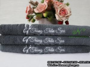 Khăn Spa Trang Trần Màu Xám