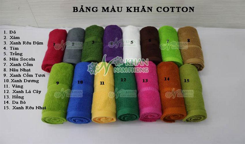 Bảng màu mới nhất về khăn cotton được cung cấp bởi Khăn Nam Phong