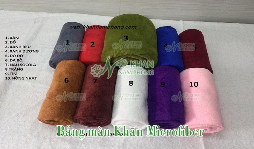 Bảng màu khăn Microfiber mới nhất của Khăn Nam Phong