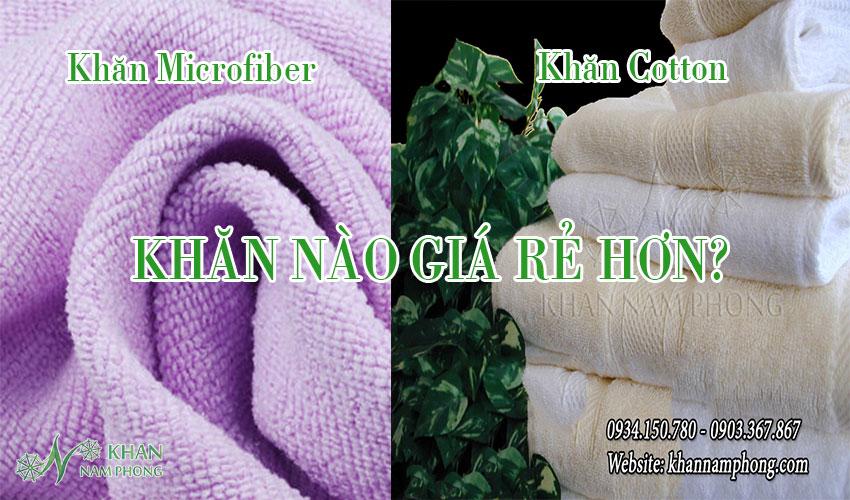 Giá thành của khăn microfiber và khăn cotton
