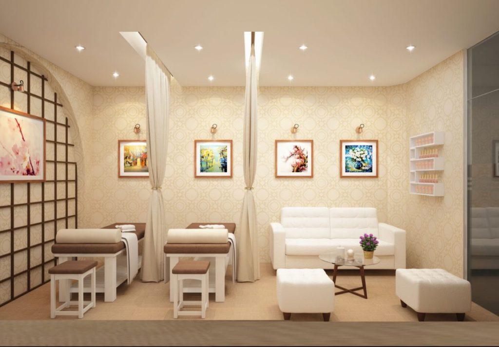 Decor thiết kế tiệm spa mini là điều cần thiết bắt buộc