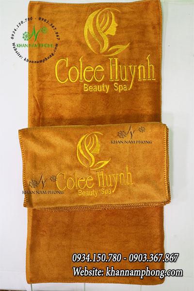 Khăn Trải Giường Spa Microfiber Cao Cấp Colee Huỳnh-Màu vàng