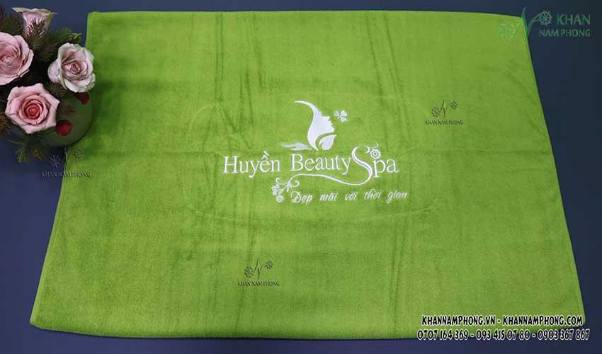 Mẫu khăn body Huyền Beauty Spa (Xanh cốm - Cotton)