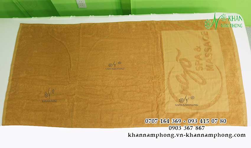 + Mẫu khăn body Ngõ Spa (Nâu Nhạt - Cotton)