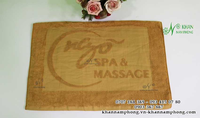 Mẫu khăn body Ngõ Spa (Nâu Nhạt - Cotton)