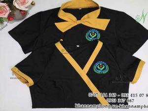 Đồng phục của Y học cổ truyền Saigon màu vàng-đen