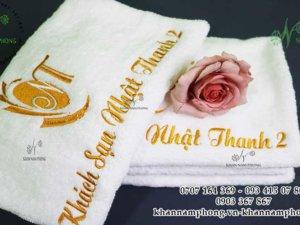 khăn khách sạn Nhật Thanh 2 màu trắng, chất liệu Cotton