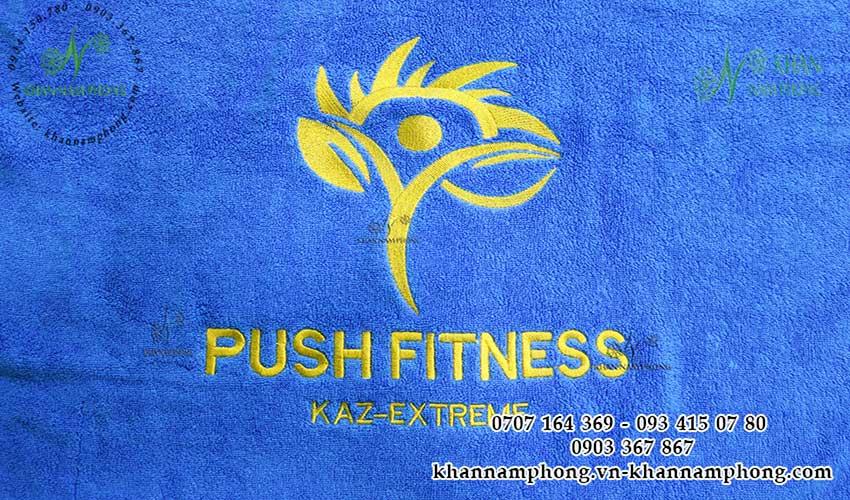 Mẫu khăn body Push Fitness (Cotton Xanh)
