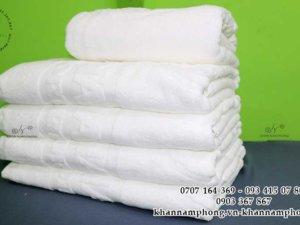 khăn resort của Đồng Nai Cold màu trắng chất liệu 100% Cotton