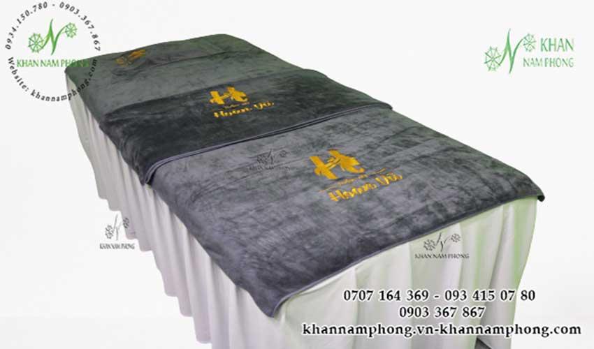 Mẫu khăn trải giường Thẩm mỹ Hoàn Vũ (Xám - Microfiber)