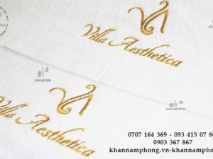 khăn Villa Aesthetica chất liệu Cottob trắng