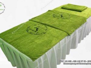 khăn của Bách hoa tiên tử màu xanh lá sử dụng chất liệu Microfiber