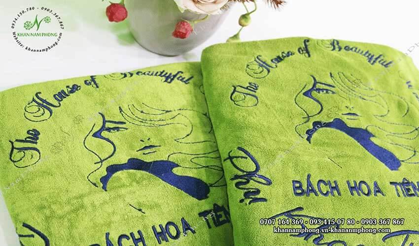 Mẫu khăn trải giường Bách Hoa Tiên Tử (Xanh lá - Microfiber)