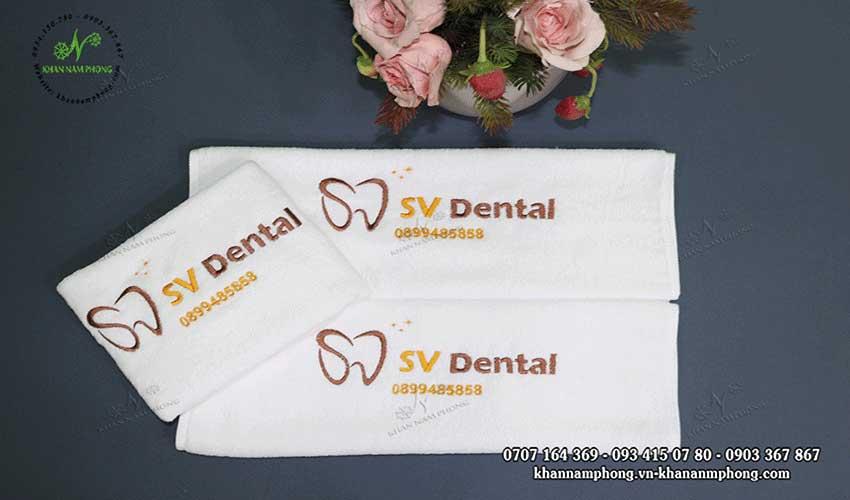 Khăn Nha khoa của SV dental màu trắng, chất liệu cotton