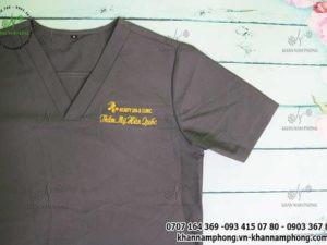 ĐP Thẩm mỹ Hàn Quốc - màu xam chất liệu cottonĐP Thẩm mỹ Hàn Quốc - màu xam chất liệu cotton