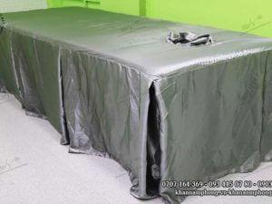 Ga giường Spa màu Xám chất liệu Lụa phi bóng