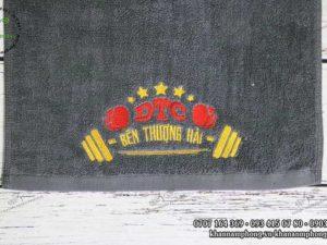 Khăn Gym của DTC Bến Thượng Hải chất liệu Cotton màu xám