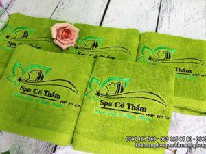 Khăn Spa Cô Thắm - màu xanh cốm, chất liệu Cotton