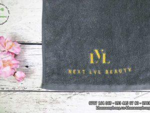 Khăn quấn tóc của Next LVL Beauty màu xám chất liệu Cotton