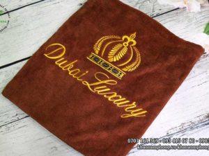 khăn spa của Dubai Luxury- màu nâu socola chất liệu microfiber