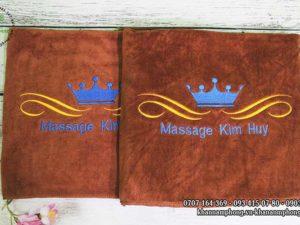 Khăn Massage Kin Huy - màu nâu socola chất liệu microfiber
