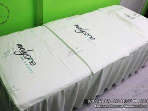 Bộ khăn Spa của Melyone Spa & Beauty chất liệu Cotton, màu trắng