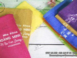 Khăn Nha khoa Hoàng Mình III chất liệu cotton sử dụng nhiều màu