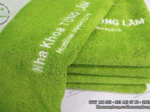 Khăn Nha khoa Tùng Lâm chất liệu Cotton màu Xanh cốm