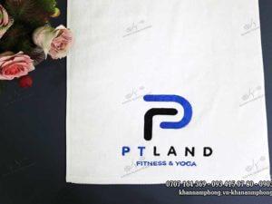 Khăn PTLAND fitness & yoga - màu Trắng chất liệu Cotton