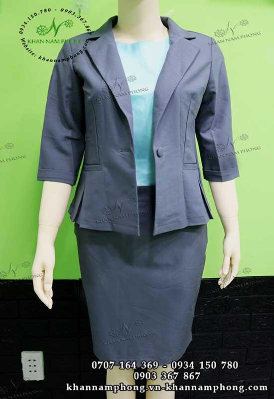 đồng phục vest spa màu xanh