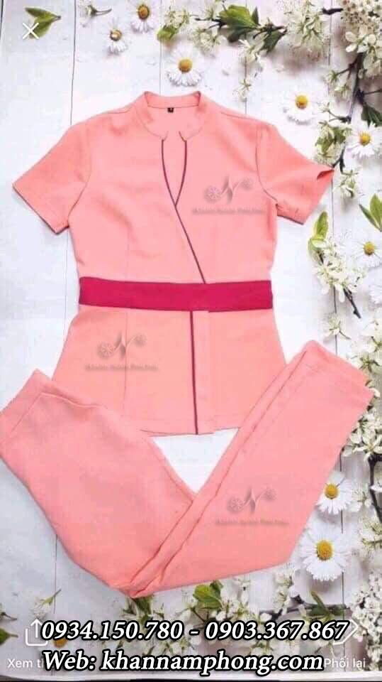 Đồng phục Spa màu hồng