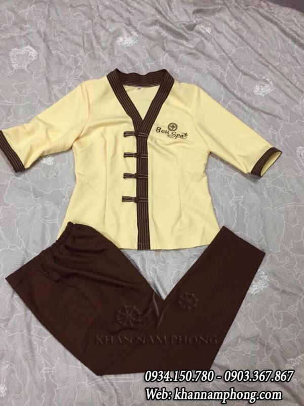 Đồng phục Spa màu vàng