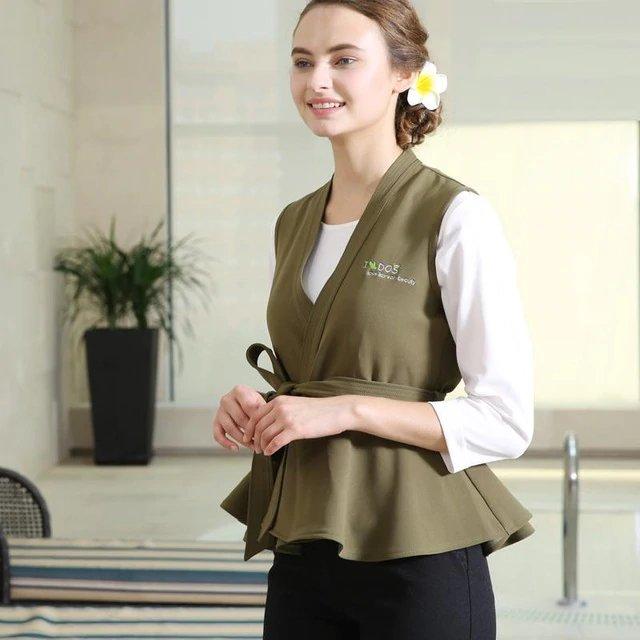 Mẫu đồng phục Spa mùa đông Nam Phong