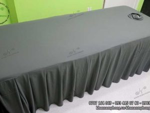 Ga giường spa thun màu xám đậm