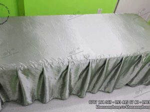 Ga giường Spa Lụa màu xám