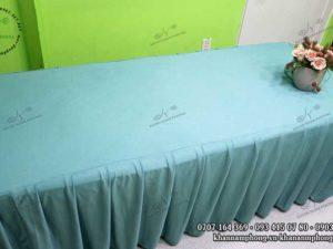 Ga giường Spa thun màu xám xanh