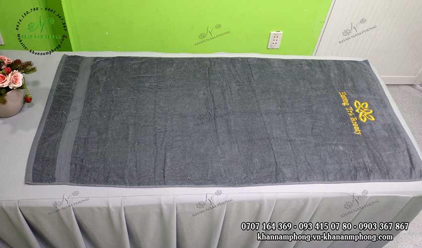 Mẫu khăn body Hương Trà Beauty (Xám - Cotton)