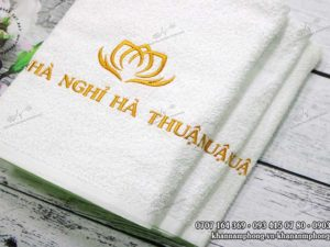 khăn nhà nghỉ Hà Thuận Cotton trắng