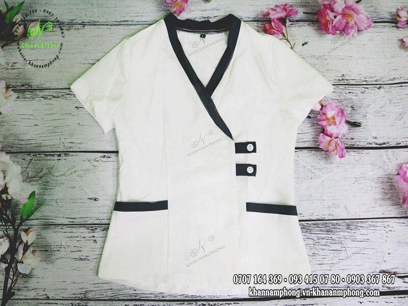 Đồng phục Spa màu trắng đẹp